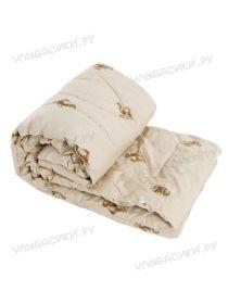 Одеяло детское верблюжья шерсть 110х140 (тик  простеганный, напол.300г/м)