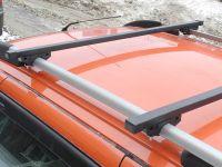 Багажник на рейлинги (эконом) на Ладу Калина, Евродеталь, стальные дуги