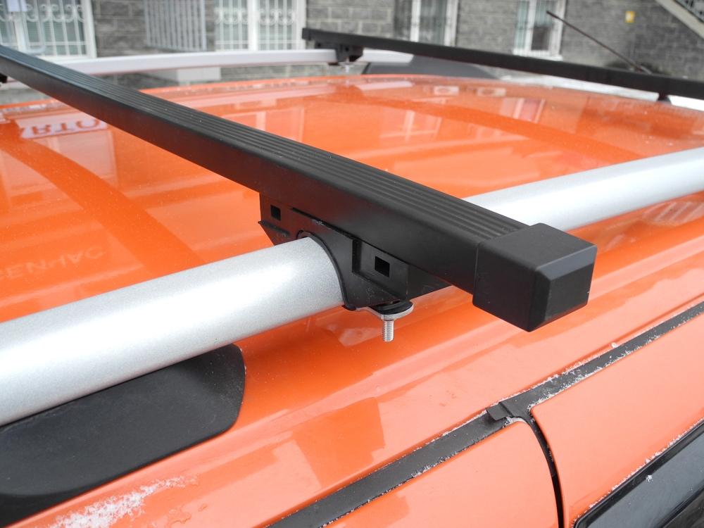 Багажник на рейлинги (эконом) на Ладу Ларгус, Евродеталь, стальные дуги