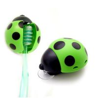 Держатель для зубных щеток Божья коровка, Зеленая