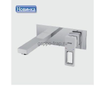 Белый встраиваемый смеситель для раковины Gappo G1017-12