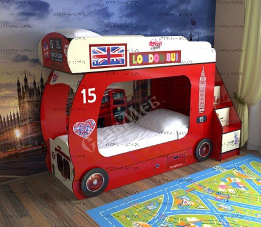 Кровать двухъярусная Автобус-2 без лестницы