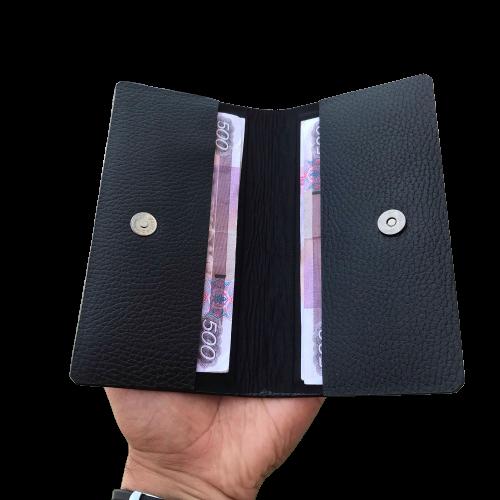 Портмоне для купюр из натуральной кожи с магнитной застежкой