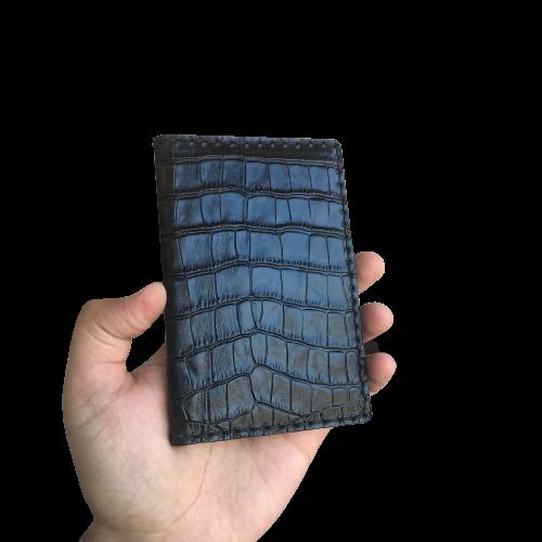 Докхолдер из натуральной кожи  «Кайман» с магнитной застежкой
