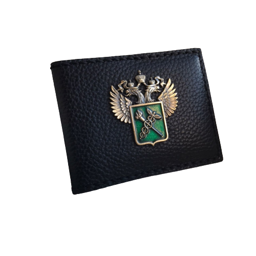 Обложка для служебного удостоверения Таможни РФ с гербом