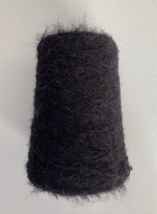 Пушистая альпака Filitaly Lab Piura Brushed цвет чёрный