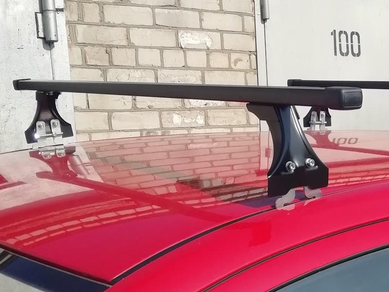 Багажник на крышу Opel Corsa D, Delta, стальные прямоугольные дуги