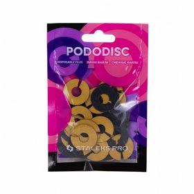 Набор сменных файлов-колец для педикюрного диска PODODISC STALEKS PRO M 240 грит (50 шт)