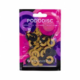 Набор сменных файлов-колец для педикюрного диска PODODISC STALEKS PRO S 180 грит (50 шт)