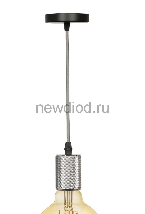 Патрон E27 ЭРА Подсветка PL13 E27 - 5 CH  провод 1 м, цвет хром
