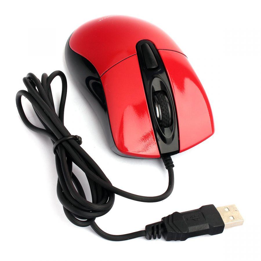 Проводная мышь Gembird MOP-415-R, USB, красный