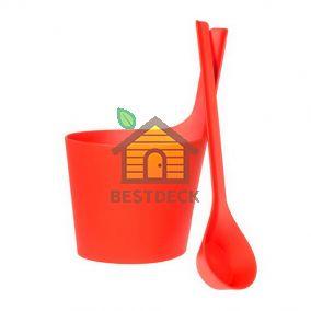 Комплект для сауны RENTO PISARA, цвет: красный