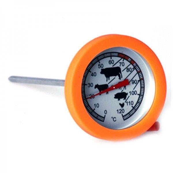 Термометр для мяса (жаропрочное стекло, силиконовый ободок)