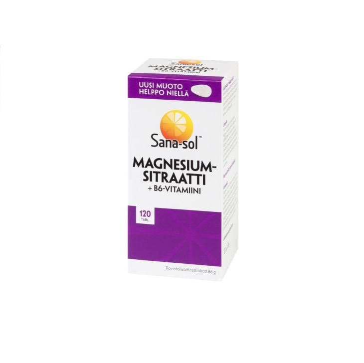 Sana-Sol Магний + В6 / Magnesium-Sitraatti+B6 120 шт