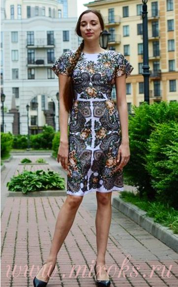 Платье летнее с короткими рукавами