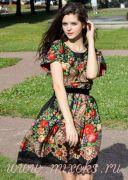 Летнее платье русское народное