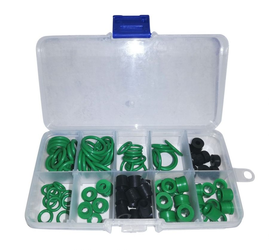 GTKIT01 Набор резиновых уплотнений и колец для ремонта шлангов, быстросъемных соединений и систем кондиционера