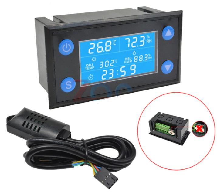 Цифровой регулятор температуры и влажности W1212 AC 220V LCD