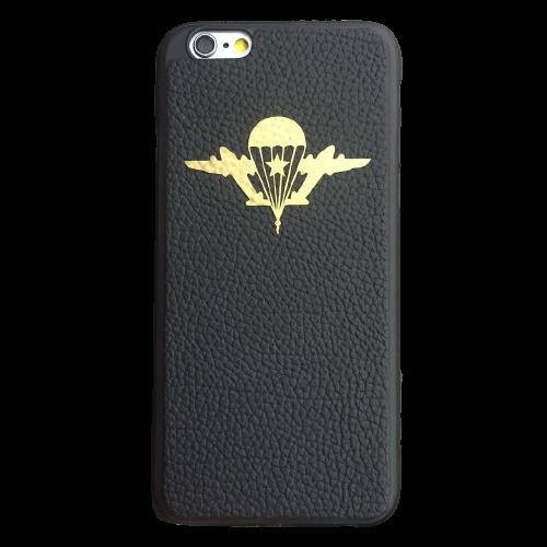 Кожаный чехол-накладка с символикой «ВДВ» на телефон