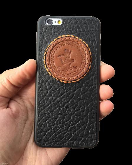 Кожаный чехол-накладка «Джигит» на телефон