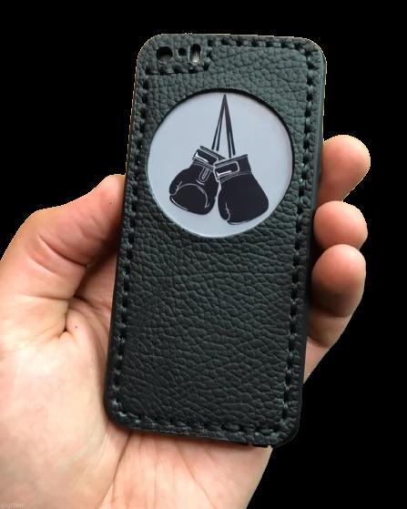 Кожаный чехол-накладка  «Бокс» на телефон
