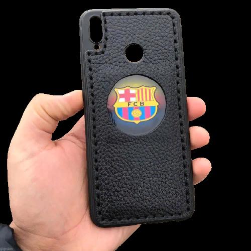 Кожаный чехол-накладка ФК «FCB» на телефон