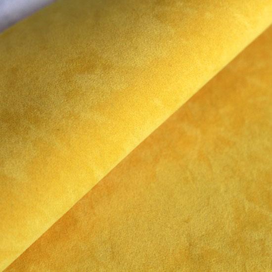 Замша для обуви искусственная двусторонняя - Желтая 30х21