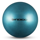 Мяч металлик IN118 19 см Indigo для художественной гимнастики голубой