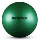 Мяч металлик IN118 19 см Indigo для художественной гимнастики зеленый