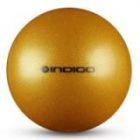Мяч металлик IN118 19 см Indigo для художественной гимнастики золотой