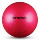 Мяч металлик IN118 19 см Indigo для художественной гимнастики розовый