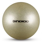 Мяч металлик IN118 19 см Indigo для художественной гимнастики серебряный