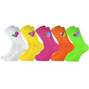 """Детские удлиненные носки С559 """"Цветное сердце"""""""