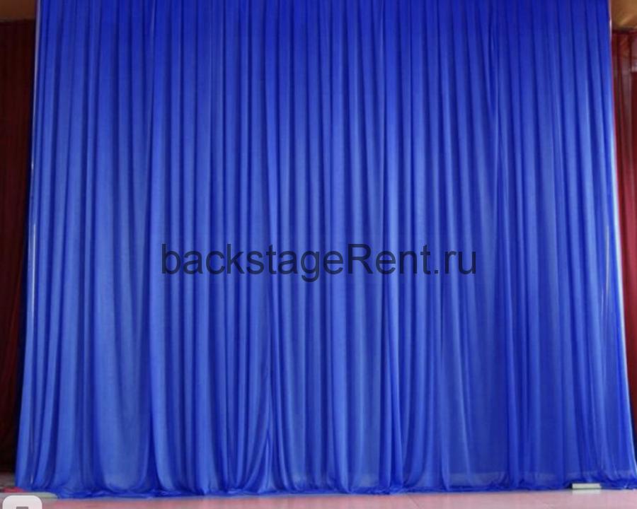 Аренда синего бархатного задника 3000x2900