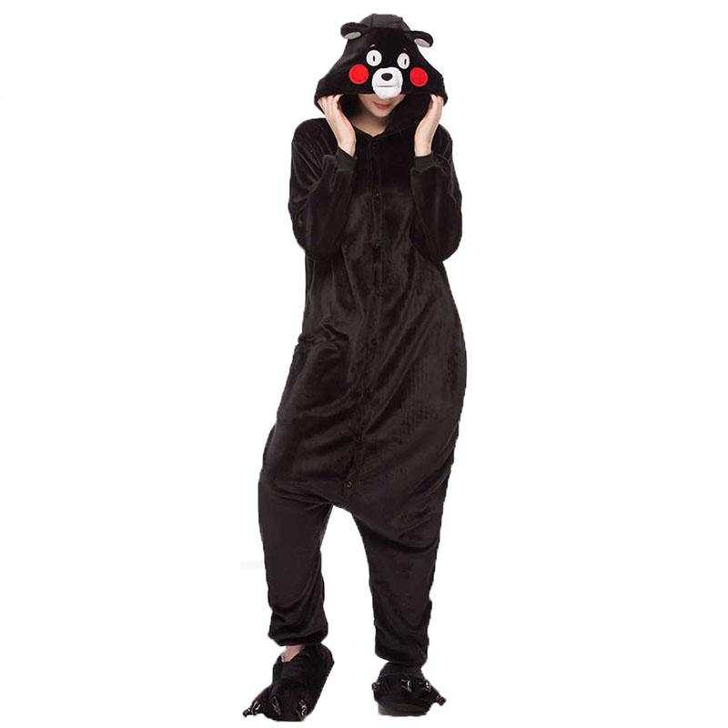 Детская Пижама Кигуруми Медведь Черный