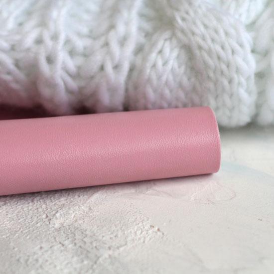 Экокожа для кукольных ботиночек - Дымчато-розовая 30х21