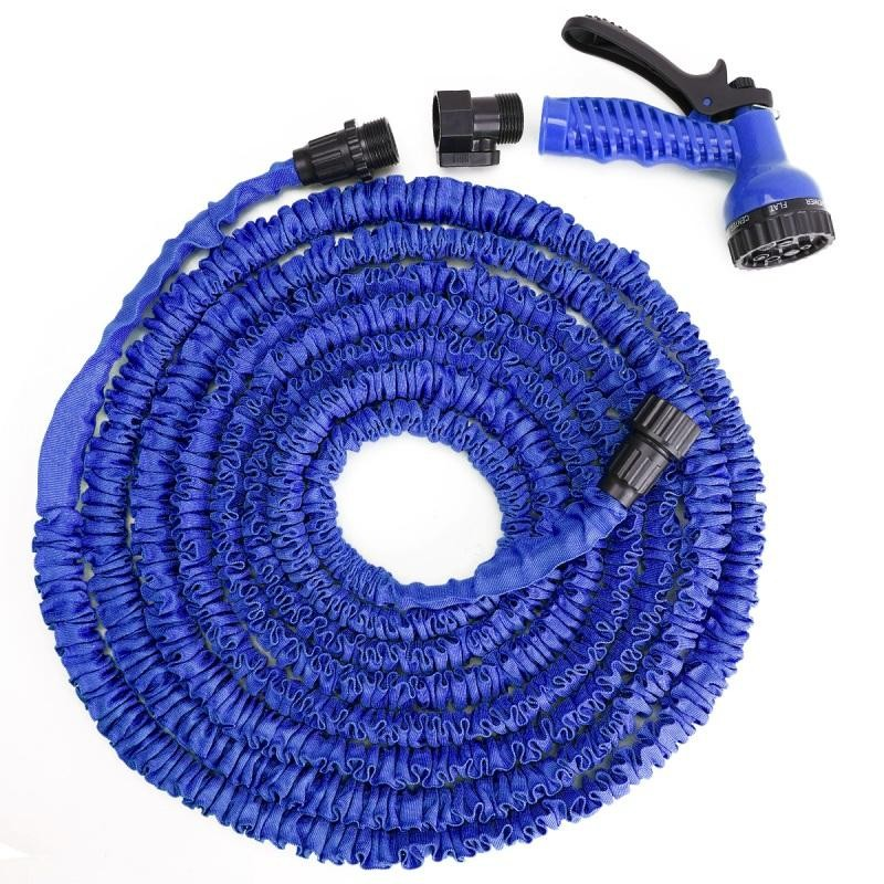 Стрейч шланг для полива XHose (Икс Хоз) с распылителем, Синий 45 м