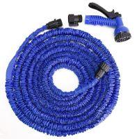 Стрейч шланг для полива XHose (Икс Хоз) с распылителем, Синий 60 м