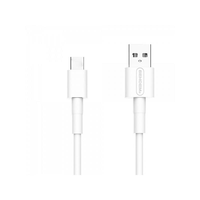 SENDEM M66 Белый кабель USB 5A (TYPE C) 1м