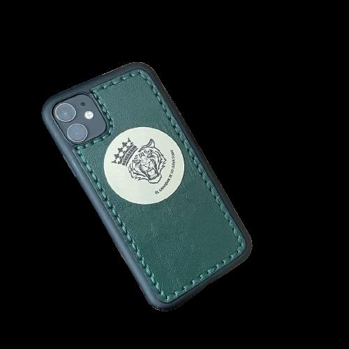 """Кожаный чехол-накладка """"Лев"""" для телефона"""