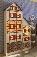 Шкаф 2-дверный + шкаф-пенал Фанки Кидз Домик (121/115х52х240)