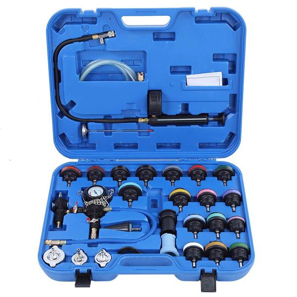 ST103 Набор инструментов для тестирования давления в радиаторе, 28 предметов
