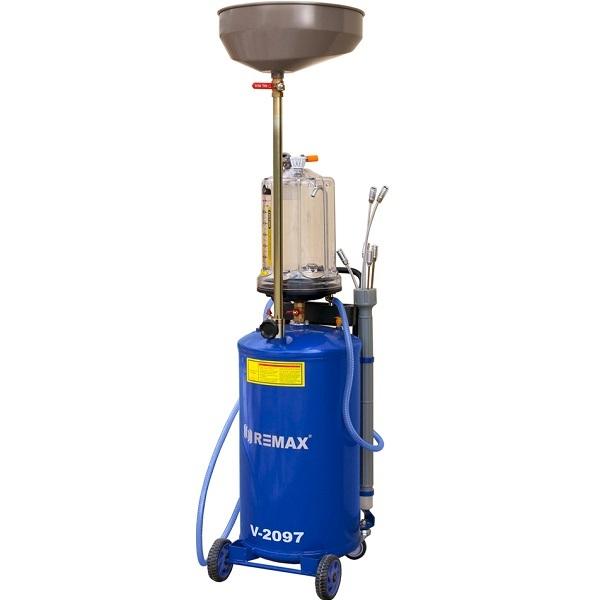 Установка маслосборная REMAX V-2097 с предкамерой, бак 65л, воронка, щупы