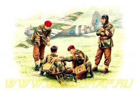 Фигуры Английские парашютисты 44г.Набор 2