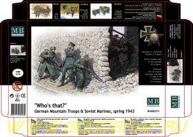 """Фигуры """"Кто это?"""", Немецкие горные войска и Советские морские пехотинцы, весна 1943 г."""