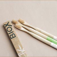 Щетка зубная бамбуковая Light Green BIOX