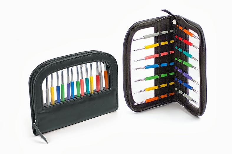 Набор крючков мягкой цветной ручкой Lana Grossa