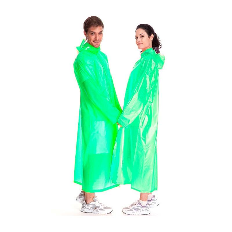 Виниловый плащ-дождевик для взрослых, Зеленый
