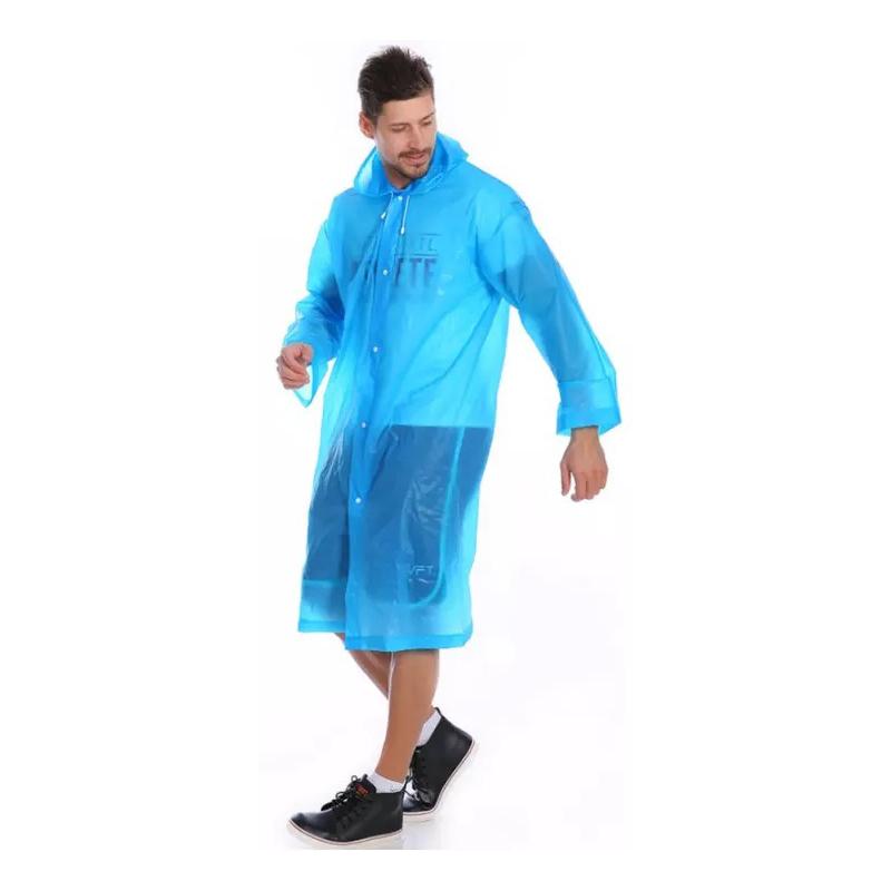 Виниловый плащ-дождевик для взрослых, Голубой