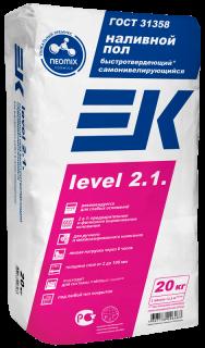 Наливной пол ЕК Level 2.1 (20кг) самонивелирующийся